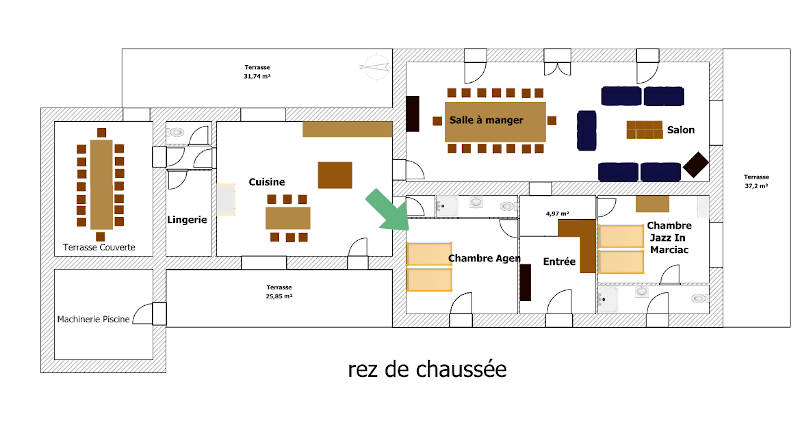 Plan situation chambre agen